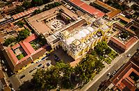 Aerial view of Iglesia La Merced in Antigua, Guatemala on Friday, Sept. 28, 2018.