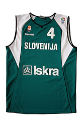 Jersey number 4 of Slovenian basketball national team when played at World Championships Japan 2006; on March 28, 2009, in Ljubljana, Slovenia (Photo by Vid Ponikvar / Sportida)