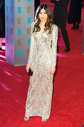 © Licensed to London News Pictures. 14/02/2016. London, UK. GEMMA CHAN arrives on the red carpet at the EE British Academy Film Awards 2016 Photo credit: Ray Tang/LNP
