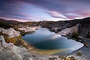 Dawn over Blue Lake, St Bathans, Central Otago