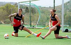 Aden Flint of Bristol City and Luke Ayling of Bristol City  - Mandatory by-line: Joe Meredith/JMP - 19/07/2016 - FOOTBALL - Bristol City pre-season training camp, La Manga, Murcia, Spain