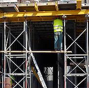 Israel, Tel Aviv, High Rise construction site