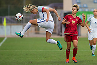 England's Steph Houghton Spain's Amanda Sampedro during the frendly match between woman teams of  Spain and England at Fernando Escartin Stadium in Guadalajara, Spain. October 25, 2016. (ALTERPHOTOS/Rodrigo Jimenez)
