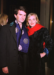 COUNT MANFREDI DELLA GHERARDESCA and PRINCESS DORA LOWENSTEIN, at a party in London on 24th February 1998.MFP 40