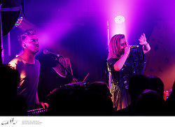 New Zealand band Broods performing at GoodGod Club, Sydney, photographed on Wednesday 4 June 2014.