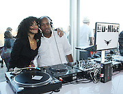 l to r: DJ Rashida and DJ D-Nice at The Launch Party for The Alize Ground-Breaking Online Reality Series Concrete & Cashmere Web Based Reality Show held at The Cooper Square Hotel on July 9, 2009 in New York City