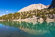 Mount Alice reflected in Big Pine Lake #3, John Muir Wilderness, Sierra Nevada Mountains, California USA