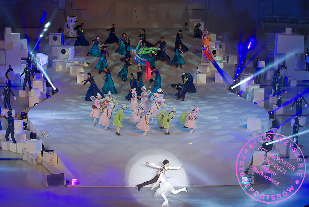 Opening Ceremony of the 10th Special Olympics World Winter Games in the Yongpyong Dome near Alpensia on January 29, 2013...South Korea, PyeongChang, January 29, 2013..Picture also available in RAW (NEF) or TIFF format on special request...For editorial use only. Any commercial or promotional use requires permission...Photo by © Adam Nurkiewicz / Mediasport
