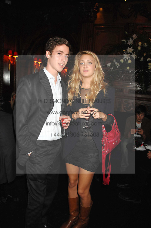JAKE THOMSON and RUBY RUFUS-ISAACS at a party to celebrate the publication of the 2007 Tatler Little Black Book held at Tramp, 40 Jermyn Street, London on 7th November 2007.<br />