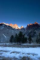 Sunrise Alpenglow on Sievers Mountain, Maroon / Snowmass Wilderness, Colorado