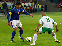 Malmö  2012-10-11  Fotboll  Landskamp  Brazil    - Iraq   :  Brazil 20 Hulk Iraq3 Basi Abbas.(Foto: Christer Thorell, Pic-Agency.com) Nyckelord : fotboll , football , soccer , Landskamp , Herrar , Men , Brazil , Iraq , .