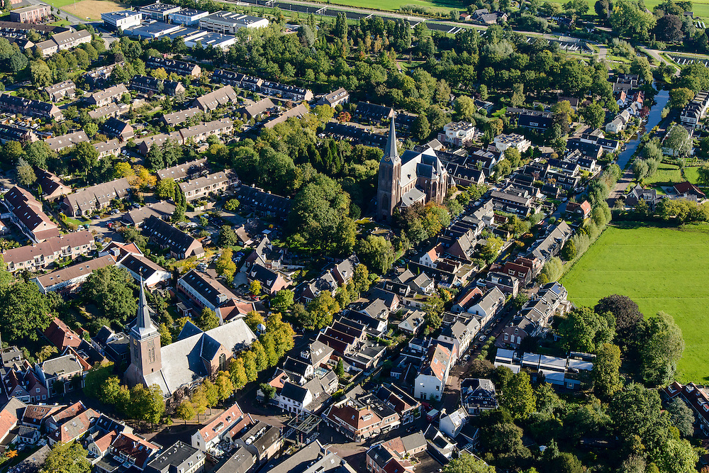 Nederland, Utrecht, Gemeente De Ronde Venen, 27-09-2015; Abcoude, Kerkstraat.<br /> luchtfoto (toeslag op standard tarieven);<br /> aerial photo (additional fee required);<br /> copyright foto/photo Siebe Swart
