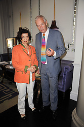 BIANCA JAGGER and JON SNOW at 'Amnestea' a tea party hosted my Amnesty International held at The Langham Hotel, Portland Place, London on 25th May 2010.