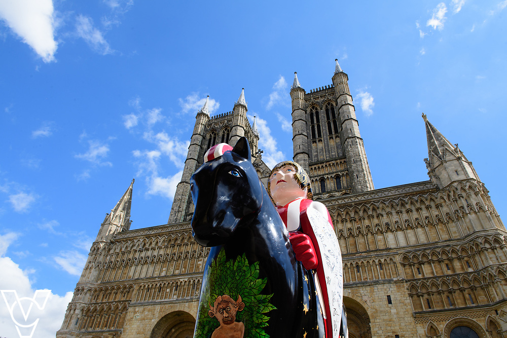 Lincoln Cathedral with one of the Lincoln Knights in the foreground.<br /> <br /> Picture: Chris Vaughan Photography<br /> Date: August 4, 2017