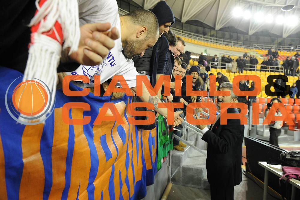 DESCRIZIONE : Roma Lega A 2011-2012 Acea Roma Fabi Shoes Montegranaro<br /> GIOCATORE : Marco Calvani<br /> CATEGORIA : esultanza<br /> SQUADRA : Acea Roma<br /> EVENTO : Campionato Lega A 2011-2012<br /> GARA : Acea Roma Fabi Shoes Montegranaro<br /> DATA : 08/02/2012<br /> SPORT : Pallacanestro<br /> AUTORE : Agenzia Ciamillo-Castoria/GiulioCiamillo<br /> GALLERIA : Lega Basket A 2011-2012<br /> FOTONOTIZIA : Roma Lega A 2011-2012 Acea Roma Fabi Shoes Montegranaro<br /> PREDEFINITA :
