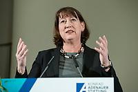 "14 JAN 2019, BERLIN/GERMANY:<br /> Hildegard Mueller, CDU, Chief Operating Officer Grid und Staatsministerin a.D., Veranstaltung der Konrad-Adenauer-Stiftung, KAS, ""Frauenpolitik - Auftrag fuer morgen!"", Sheraton Hotel <br /> IMAGE: 20190114-01-142<br /> KEYWORDS: Hildegard Müller"