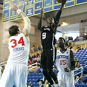 Austin Toros Guard Myck Kabongo (9) drives towards the basket in the course of a NBA D-league regular season basketball game between the Delaware 87ers (76ers) and the Austin Toros (Spurs) Monday, Jan. 27, 2014 at The Bob Carpenter Sports Convocation Center, Newark, DE