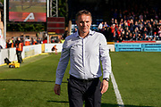 Sunderland Manager Phil Parkinson during the EFL Sky Bet League 1 match between Wycombe Wanderers and Sunderland at Adams Park, High Wycombe, England on 19 October 2019.