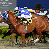 Russian Ice and Jim Crowley winning the 5.30 race