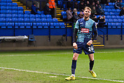 Wycombe Wanderers defender Jason McCarthy celebrate Wycombe Wanderers defender Joe Jacobson scoring a goal during the EFL Sky Bet League 1 match between Bolton Wanderers and Wycombe Wanderers at the University of  Bolton Stadium, Bolton, England on 15 February 2020.