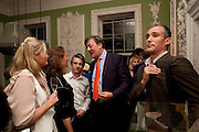GINA CARTER; STEVEN WEBB; STEPHEN FRY, First night party for Dandy In The Underworld which opened at the  Soho Theatre, 21 Dean Street. House Of St Barnabas, 1 Greek Street, 15 June 2010. -DO NOT ARCHIVE-© Copyright Photograph by Dafydd Jones. 248 Clapham Rd. London SW9 0PZ. Tel 0207 820 0771. www.dafjones.com.