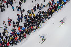 March 16, 2019 - –Stersund, Sweden - 190316 Miha Dovzan of Slovenia and Mikito Tachizaki of Japan competes in the Men's 4x7,5 km Relay during the IBU World Championships Biathlon on March 16, 2019 in Östersund..Photo: Petter Arvidson / BILDBYRÃ…N / kod PA / 92269 (Credit Image: © Petter Arvidson/Bildbyran via ZUMA Press)