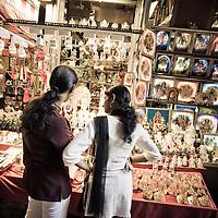 Shopgoers in Batu Caves, Kuala Lumpur