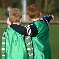 Two Moneypoint F.C team mates discuss tactics during a soccer blitz at Lees Road on Saturday morning.<br /> <br /> Photograph by Yvonne Vaughan.