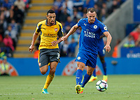 Football - 2016/2017 Premier League - Leicester Ciity V Arsenal. <br /> <br /> Daniel Drinkwater of Leicester City chased by Francis Coquelin of Arsenal at The King Power Stadium.<br /> <br /> COLORSPORT/DANIEL BEARHAM