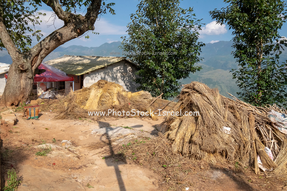 small village in the mountains near Kumming, Yunnan province in southwest China in September