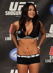 March 18, 2011; Newark, NJ; UFC Octagon Girl Arianny Celeste during the weigh-ins for UFC 128 in Newark, NJ.