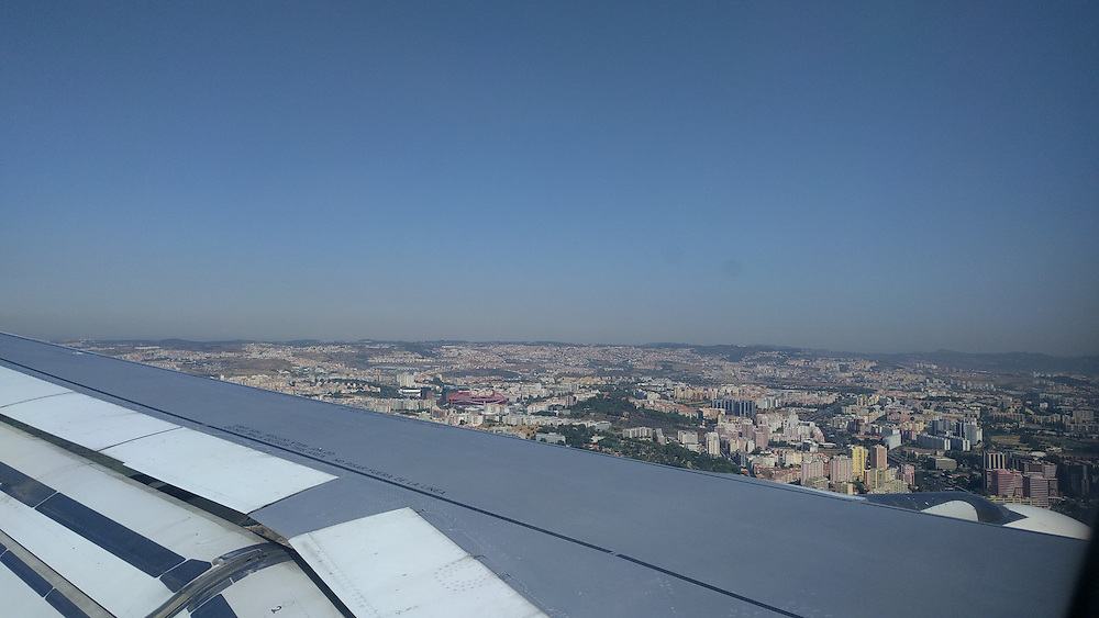 My first view of lovely Lisbon.