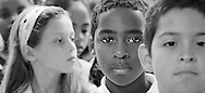 school children mixed race faces