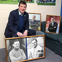 St Johnstone Manager Tommy Wright with photos of Willie Ormond, Alex Totten, Paul Sturrock and Owen Coyle.<br /> Picture by Graeme Hart.<br /> Copyright Perthshire Picture Agency<br /> Tel: 01738 623350  Mobile: 07990 594431