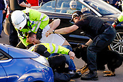 Charlton Athletic fans cause trouble outside the ground  during the EFL Sky Bet League 1 Play Off second leg match between Shrewsbury Town and Charlton Athletic at Greenhous Meadow, Shrewsbury, England on 13 May 2018. Picture by Simon Davies.