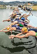 Guatape, Colombia: October, 27, 2013 - The elite men compete in the International Triathlon Union's World Cup tour in Guatape, Colombia October  27, 2013. (ARNOLD LIM, Arnold Lim / ITU).