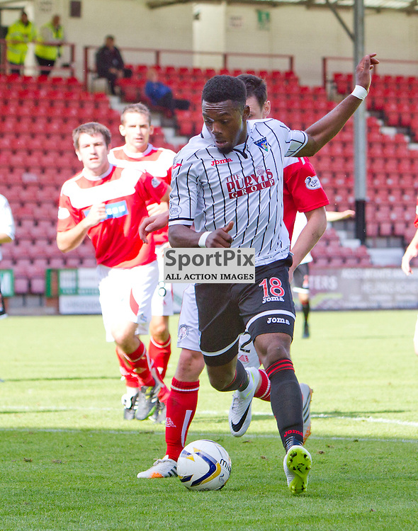 Dunfermline Athletic v Brechin City SPFL League One East End Park 09 August 2014<br /> <br /> Chigozie Ugwu in action<br /> <br /> CRAIG BROWN | sportPix.org.uk