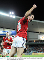 15 June 2013; Jonathan Sexton, British & Irish Lions, celebrates after scoring his side's first try. British & Irish Lions Tour 2013, NSW Waratahs v British & Irish Lions, Allianz Stadium, Sydney, NSW, Australia. Picture credit: Stephen McCarthy / SPORTSFILE