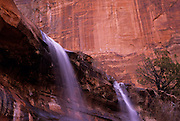 Image of Emerald Pool Falls at Zion National Park in Utah, American Southwest