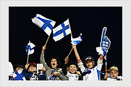 Fans before the match. Finland - Greece. Tampere, September 5, 2019.