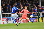GOAL Nathaniel Mendez-Laing scores 3-0 during the EFL Sky Bet League 1 match between Rochdale and Southend United at Spotland, Rochdale, England on 8 October 2016. Photo by Daniel Youngs.