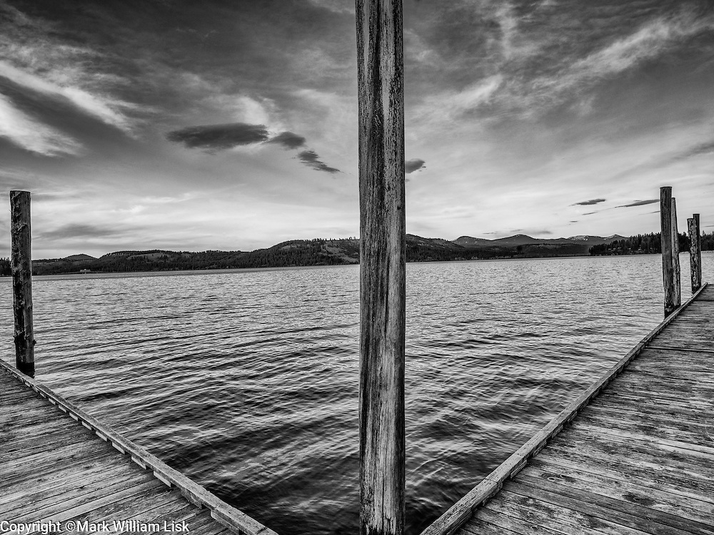 Lake side docks in Heyburn State Park, Idaho's oldest park.