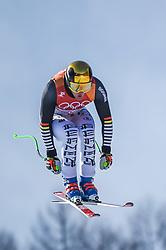 February 15, 2018 - Jeongseon, Gangwon, South Korea - Thomas Dressen of Germany competing in mens downhill at Jeongseon Alpine Centre at Jeongseon , South Korea on February 15, 2018. (Credit Image: © Ulrik Pedersen/NurPhoto via ZUMA Press)