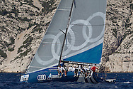 FRANCE, Marseille. 18th June 2011. AUDI MedCup Marseille Trophy. Costal Race. TP52, Audi Azzurra Sailing Team.