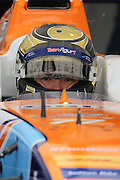 Team Aguri driver, Ma Qing Hua getting prepared to go out on track during Round 9 of Formula E, Battersea Park, London, United Kingdom on 2 July 2016. Photo by Matthew Redman.