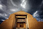 San Jose de Gracia Church in the village of Las Trampas, New Mexico.