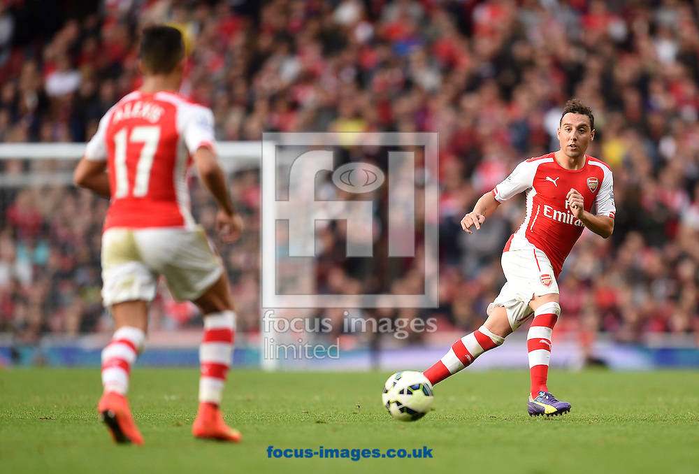 Santi Cazorla of Arsenal during the Barclays Premier League match against Hull City at the Emirates Stadium, London<br /> Picture by Andrew Timms/Focus Images Ltd +44 7917 236526<br /> 18/10/2014
