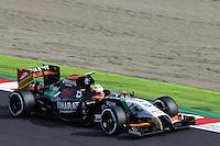 Sergio Perez (MEX) Sahara Force India F1 VJM07.<br /> Japanese Grand Prix, Saturday 4th October 2014. Suzuka, Japan.