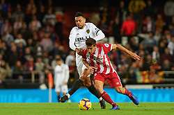 November 3, 2018 - Valencia, Valencia, Spain - Francis Coquelin of Valencia CF and Pere Pons of Girona FC during the La Liga match between Valencia CF and Girona FC at Mestala Stadium on November 3, 2018 in Valencia, Spain (Credit Image: © AFP7 via ZUMA Wire)