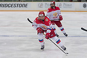 Russia forward Likhacheva Ekaterina controls the puck in the third period during the Nagano Olympics Paralympics 20th Anniversary Games at Nagano on Monday, December 25, 2017. 25/12/2017-Nagano, JAPAN.